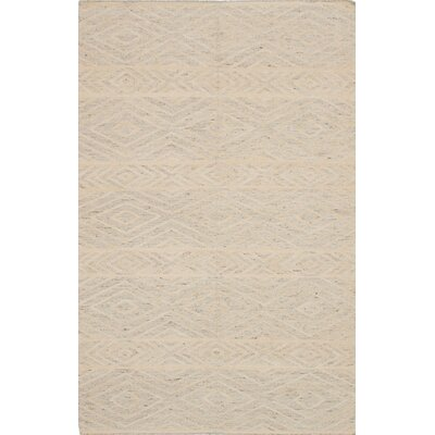 Tribeca Hand-Woven Gray/Beige Area Rug Rug Size: 5 x 8