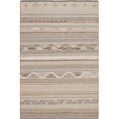 Tribeca Hand-Woven Beige/Brown Area Rug Rug Size: 8 x 10