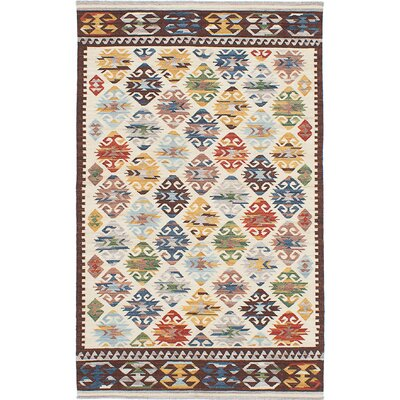 Antalya Hand-Woven Brown/Blue/Gray Area Rug Rug Size: 5 x 8