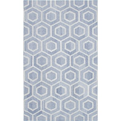 Tribeca Hand-Woven Blue Area Rug Rug Size: 8 x 10