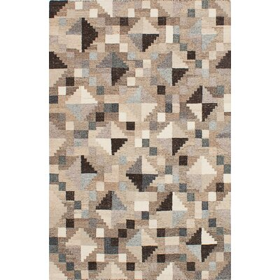 Tribeca Hand-Woven Gray/Brown/Beige Area Rug Rug Size: 4 x 6