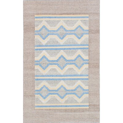 Tribeca Hand-Woven Blue/Gray/Beige Area Rug Rug Size: 5 x 8