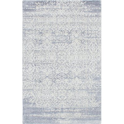 One-of-a-Kind Monterey Hand-Knotted Gray/White Area Rug Rug Size: 5 x 8