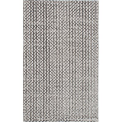 Don Hand-Knotted Gray Area Rug Rug Size: 8 x 10