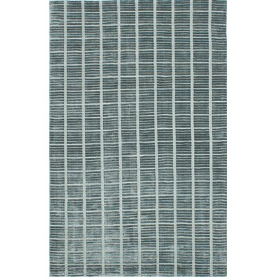 Don Hand-Knotted Gray Area Rug Rug Size: 5 x 8