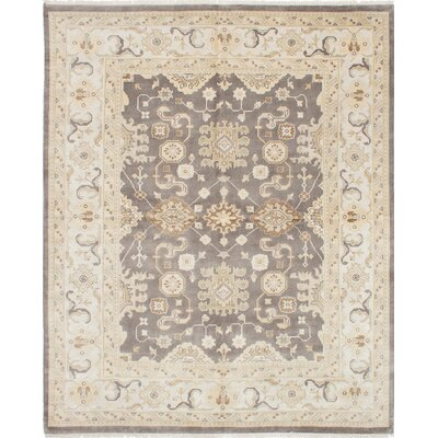 Royal Ushak Hand-Knotted Dark Gray Area Rug