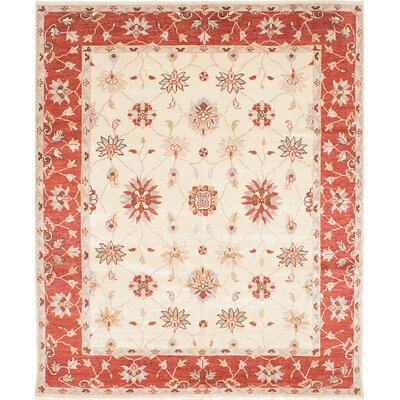 Barrows Hand-Knotted Cream Area Rug