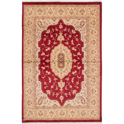 Kashmir Hand-Knotted Red Area Rug