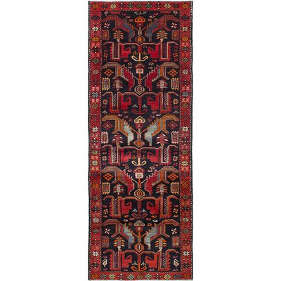 Nahavand Hand-Knotted Red Area Rug