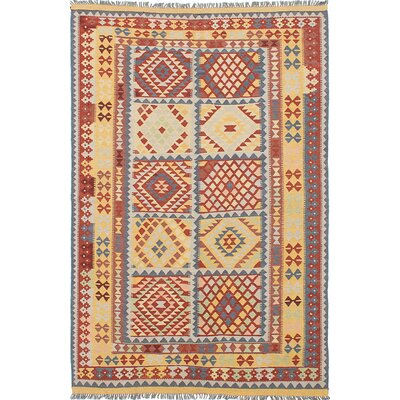 Hereke Hand-Woven Red/Beige Area Rug