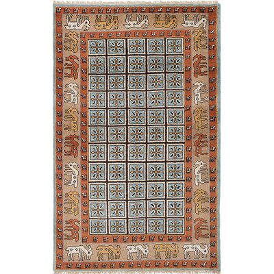 Berkshire Hand-Knotted Light Blue/Copper Area Rug
