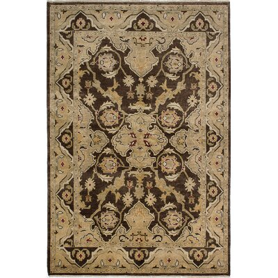 Royal Ushak Hand-Knotted Brown/Beige Area Rug