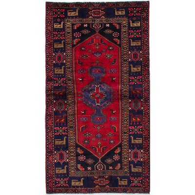 Touserkan Hand-Knotted Dark Navy/Red Area Rug