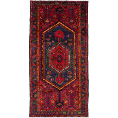 One-of-a-Kind Nahavand Hand-Knotted Red Area Rug