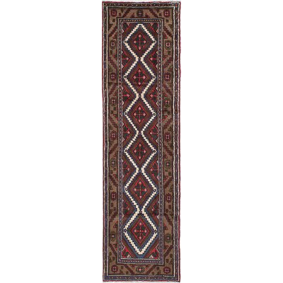 Koliai Hand-Knotted Brown/Red Area Rug