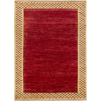 One-of-a-Kind Elysee Hand-Knotted Red/Beige Area Rug