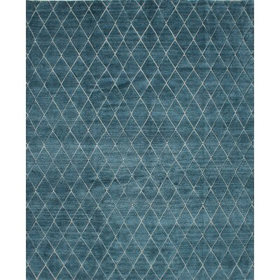 Mystique Hand-Knotted Blue Area Rug
