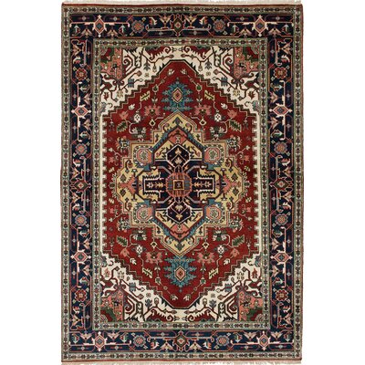 One-of-a-Kind Baldry Hand-Knotted Red/Brown Area Rug