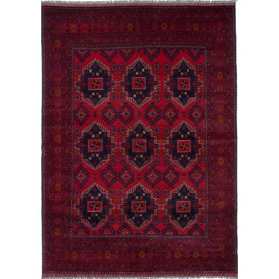 Bouldercombe Hand-Knotted Red/Black Area Rug
