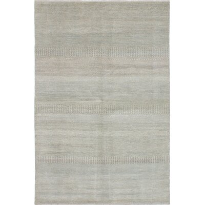 One-of-a-Kind Shevra Hand-Knotted Gray Area Rug