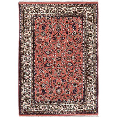 One-of-a-Kind Royal Kashan Hand-Knotted Red/Beige Area Rug