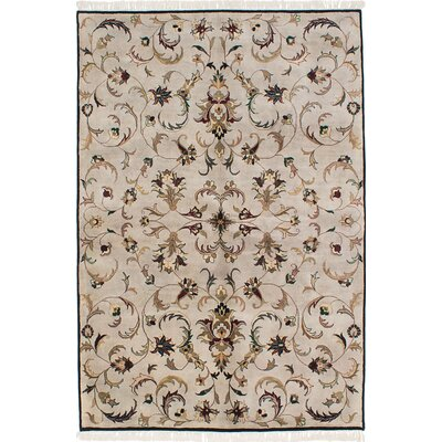 One-of-a-Kind Kenmar Hand-Knotted Gray Area Rug