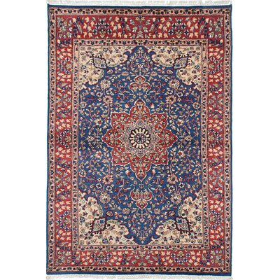 Kashmir Hand-Knotted Blue/Red Area Rug
