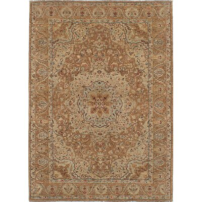 Chobi Twisted Hand-Knotted Beige Area Rug