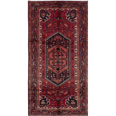 One-of-a-Kind Bilbie Hand-Knotted Rectangle Red Area Rug
