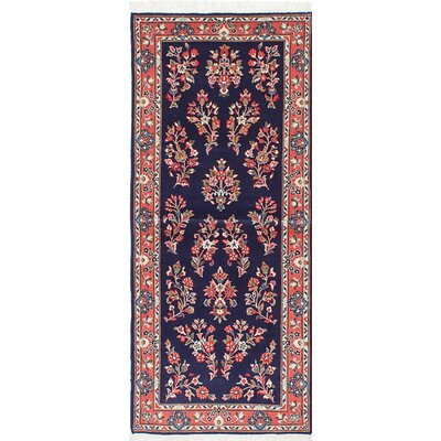 Sarough Hand-Knotted Blue Area Rug