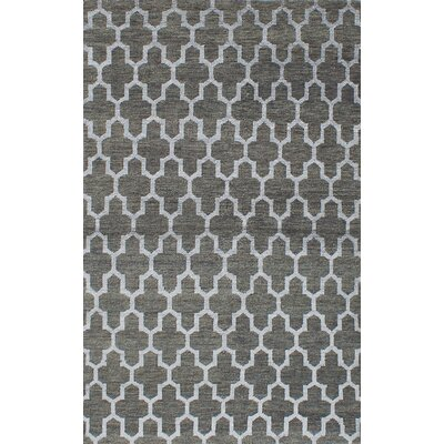 La Seda Hand-Knotted Green Area Rug