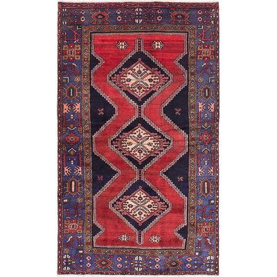 Nahavand Hand-Knotted Red/Blue Area Rug