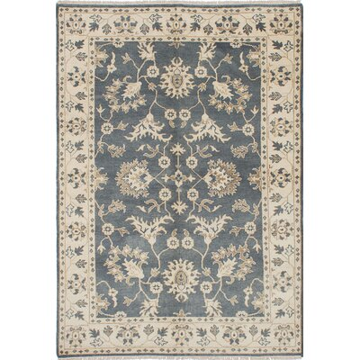 One-of-a-Kind Royal Ushak Hand-Knotted Beige/Gray Area Rug