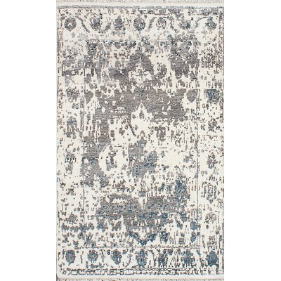 Elixir Hand-Knotted Beige/Gray Area Rug