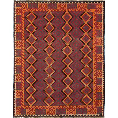 One-of-a-Kind Bruntons Handmade Wool Orange/Red Area Rug
