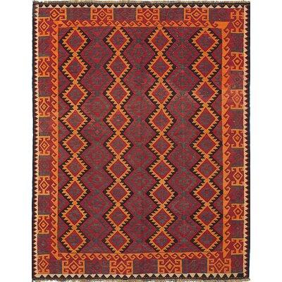 Bruntons Hand-Woven Orange/Red Area Rug