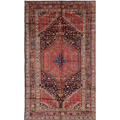 Touserkan Hand-Knotted Blue/Red Area Rug