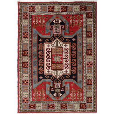 Royal Kazak Hand-Knotted Red Area Rug