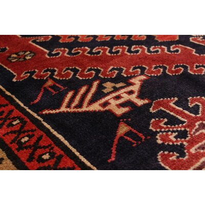 One-of-a-Kind Lin Hand-Knotted Red Area Rug