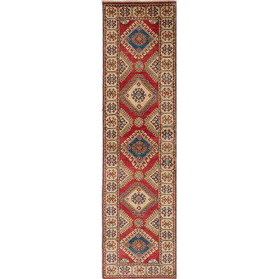 Bernard Wool Hand-Knotted Rectangle Red Area Rug