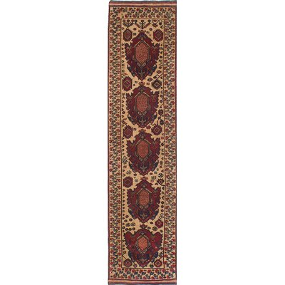 One-of-a-Kind Pacheco Hand-Knotted Red Area Rug