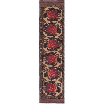 One-of-a-Kind Pacheco Hand-Knotted Beige/Red Area Rug