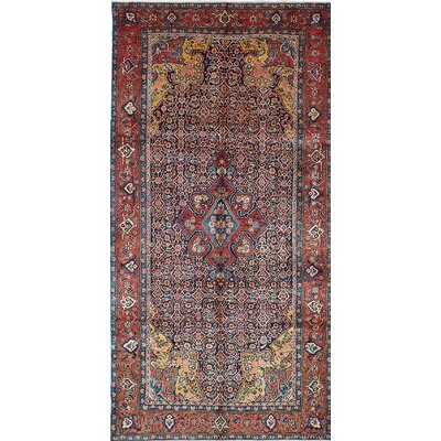 Tabriz Hand-Knotted Blue/Brown Area Rug
