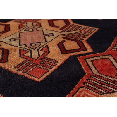 One-of-a-Kind Lin Hand-Knotted Wool Blue Area Rug