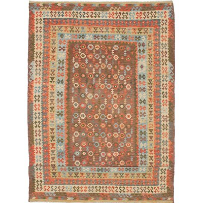 Hereke Hand-Woven Brown/Orange Area Rug