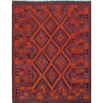 Kashkuli Hand-Woven Red Area Rug