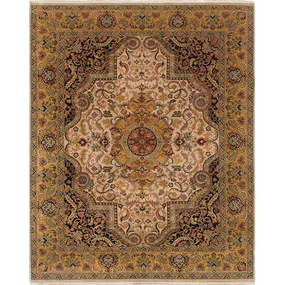 Jamshidpour Hand-Knotted Brown Area Rug