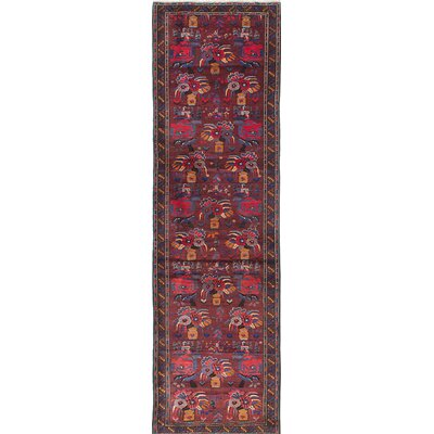 Finest Rizbaft Hand-Knotted Red Area Rug