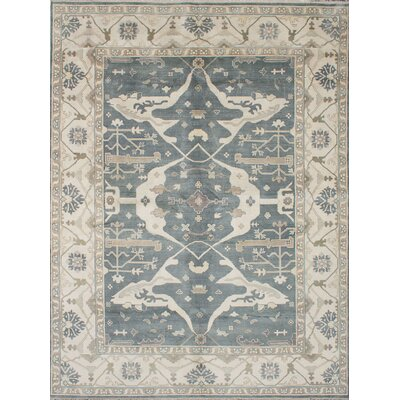 One-of-a-Kind Royal Ushak Hand-Knotted Gray Area Rug