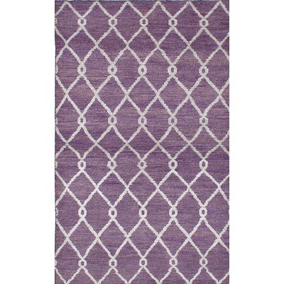 One-of-a-Kind Dearth Hand-Knotted Purple Area Rug